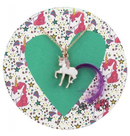 "Jane Marie 14"" Unicorn With Purple Hair Necklace"