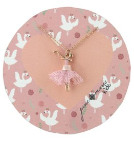 "Jane Marie 14"" Dancing Ballerina With Pink Tulle Tutu Necklace"
