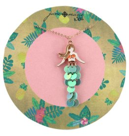 "Jane Marie 14"" Mermaid Sequin Necklace"