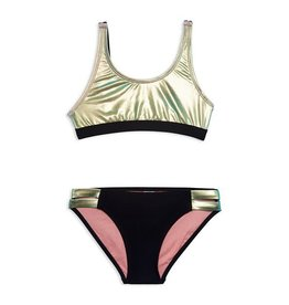 Gossip Girl Iridescent Green 2pc Swimsuit