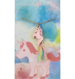 "Jane Marie 14"" Unicorn with Tassel Necklace"