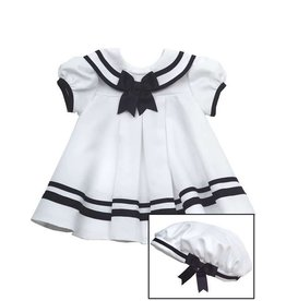 Rare Editions White Sailor Dress 3 Piece Set