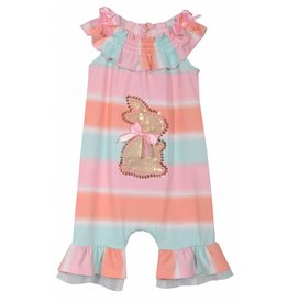 Bonnie Jean Multi-Color Bunny Romper