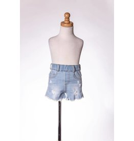 MLKids Distressed Lace Pocket Shorts