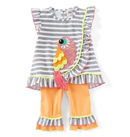 Rare Editions Birdie Striped 2pc Set