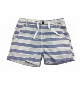 Me + Henry Blue and Grey Striped Woven Short