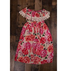 Bonnie Jean Pink/Coral Rose Shorts Romper