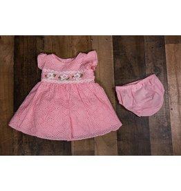 Bonnie Jean Pink Eyelet Dress