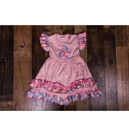 Mauve Floral Bunny Dress
