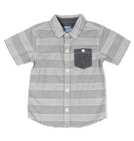 Kapital K B&W Stripe Poplin Button-Down Shirt