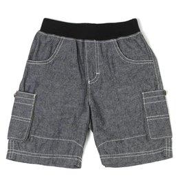 Kapital K Grey Chambray Oxford Pull On Shorts
