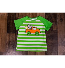 Neon Green/White Striped Bunny Truck Shirt