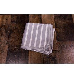 Hey Day! Grey/White Striped Blanket