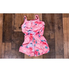 Pink Floral Butterfly Romper