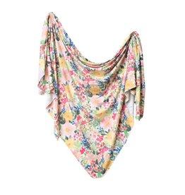 Copper Pearl Lark Knit Swaddle Blanket