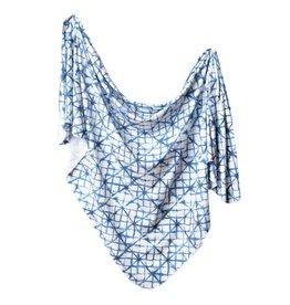Copper Pearl Indigo Knit Swaddle Blanket