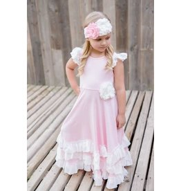 Serendipity Clothing Co Pink And White Maxi Dress