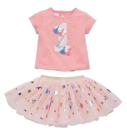 Mud Pie One Birthday Skirt Set