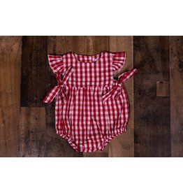 Three Sisters Red Gingham Tie Bubble
