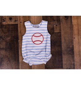 Three Sisters Baseball Applique Romper