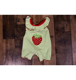 Three Sisters Strawberry Applique Romper