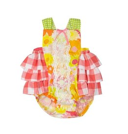 Haute Baby Polly's Picnic Sunsuit