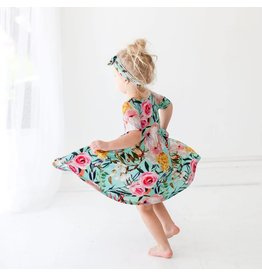 Posh Peanut Tuscan Teal Floral Twirl Dress