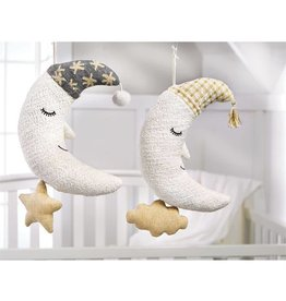 Mud Pie Gold and Ivory Moon Musical Pull Down
