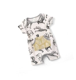 Tesa Babe Sporty Animal Romper with Kangaroo Pocket