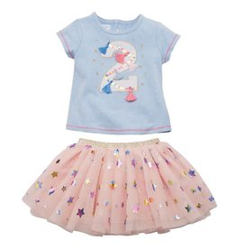 Mud Pie Two Birthday Skirt 2 pc Set