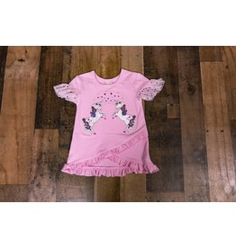 Calla Lily Pink Sequin Unicorn Top