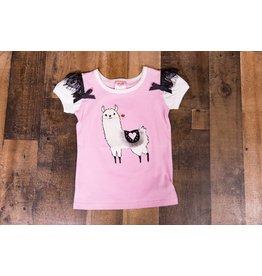 Calla Lily Pink Llama Top