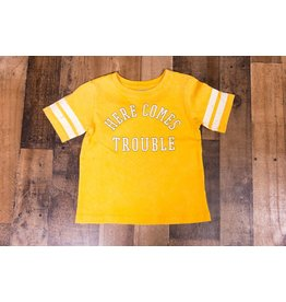 Crumb Snatcher Here Comes Trouble Golden Shirt