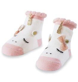 Mud Pie Pink Unicorn Sock