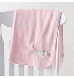 Mud Pie Unicorn Fleece Blanket