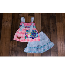 Millie Jay Camping Time Applique Knot Tie Shortset