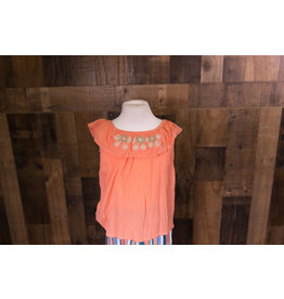 Joyus And Free Peach Embroidery Dolce Top