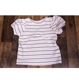 Hayden White Striped Puff Sleeve Shirt