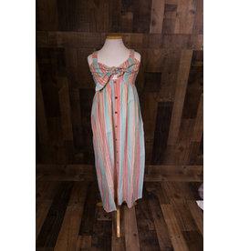 Kiddo By Katie Colorful Stripe Midi Dress