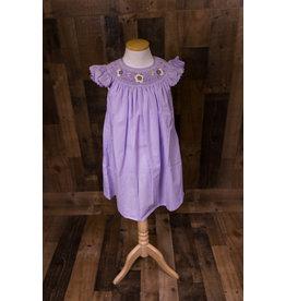 Mom & Me Smocked Purple Dress