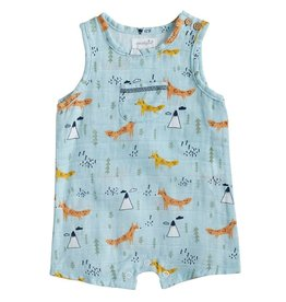 Mud Pie Muslin Fox Romper