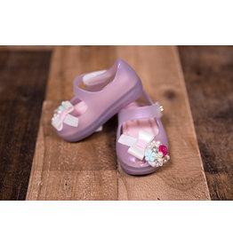 World Colors Furtacor Lilas Peep Toe Confeti Baby Mary Jane