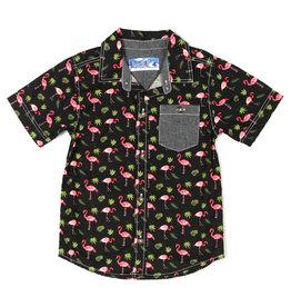 Kapital K Flamingo Printed Poplin Button-Down Shirt
