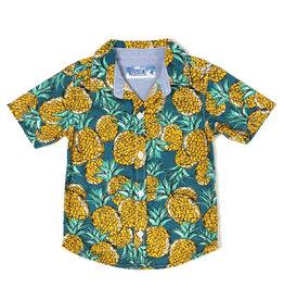 Kapital K Pineapple Printed Poplin Button-Down Shirt