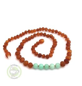 Momma Goose Raw Cognac & Amazonite