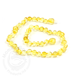 Momma Goose Baroque Lemon Amber Teething Necklace