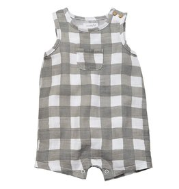 Mud Pie Gingham Muslin Romper