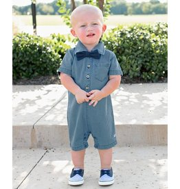 Rugged Butts Light Wash Denim Romper