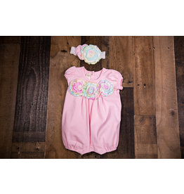 Isobella & Chloe Magic Muse Pink Romper w/ Headband