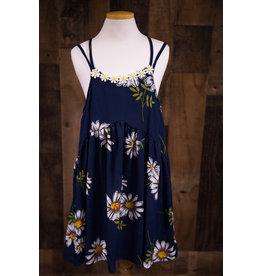 Truly Me Navy Daisy Dress